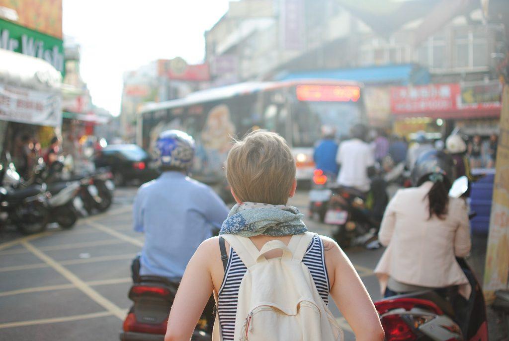 Turista in viaggio